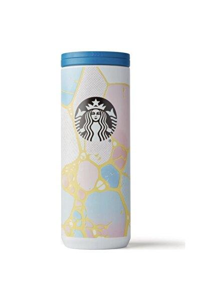 Starbucks Pembe-mavi Renkli Termos 473ml