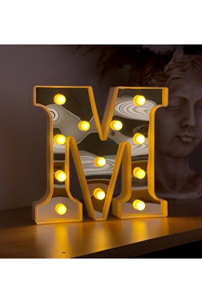 Gift Moda 3d Işıklı Led Harf Dekoratif Aydınlatma Büyük Boy