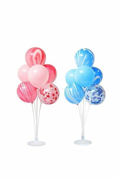 Parti dolabı 2 Adet Ayaklı Balon Standı 7 Li