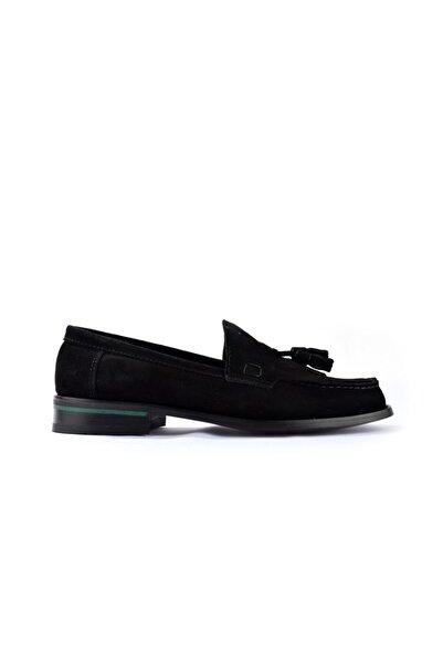 TETRİ Corcik 1200 Siyah Süet Erkek Klasik Ayakkabı