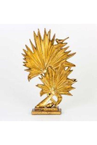 OBJE Kuşlu Yaprak Biblo Dekor 30x7,5x47 cm