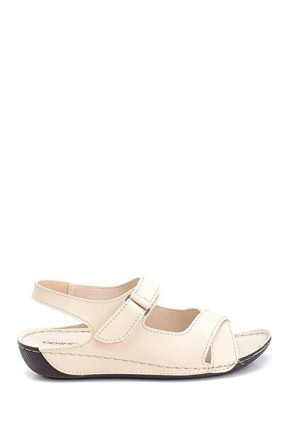 Derimod Kadın Bej Renk Dolgu Topuk Casual Sandalet