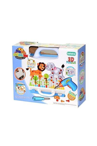 BİRLİK TOYS 3d Matkaplı Creative Puzzle 11b Mozaik Puzzle Çantalı Eğitici 239 Parça