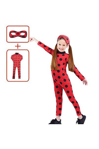 Online Çarşım Uğur Böceği Kostümü Mucize Uğur Böceği Lady Bug Kırmızı Benekli Maskeli Kostüm