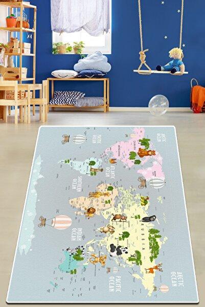 Chilai Home Map Oceanum Djt Çocuk Ve Bebek Halısı Yıkanabilir Kaymaz Taban