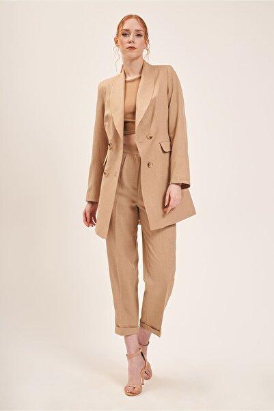 Batik A2107 Klasik Kesim Pantolon Camel