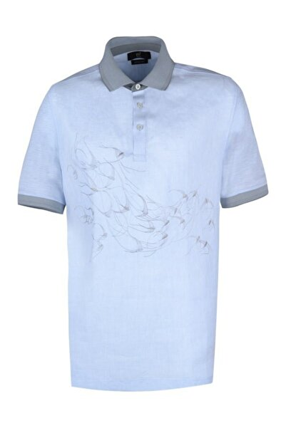 YSF Giyim Polo Yaka Desenli Regular Fit Tshirt Ms7527-716