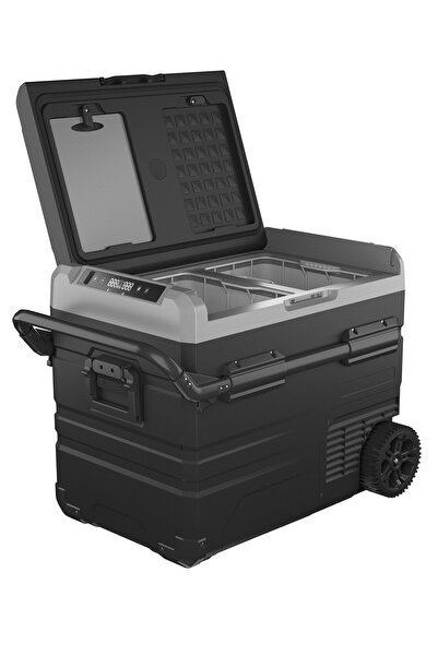 Fridgers 45lt Araç Buzdolabı Lg Kompresör, Çift Kabin Isı Ayarı, Tekerli, Lityum Akü 12/24v 220v