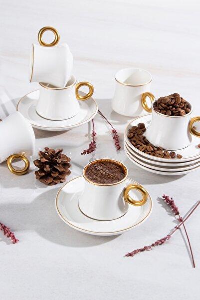 ACAR 6'lı Porselen Kahve Fincanı Takımı