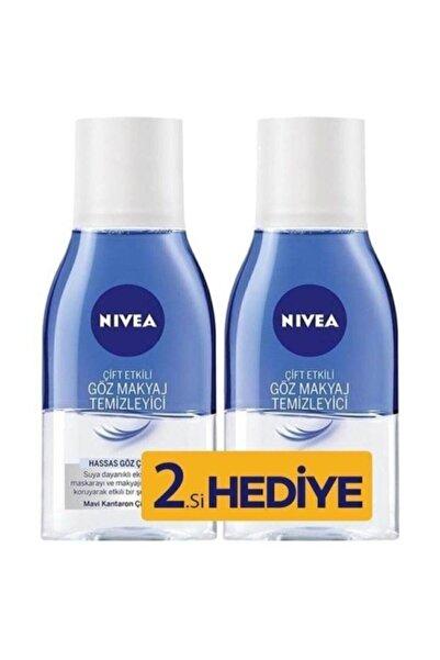 Nivea Make Up Expert Hassas Çift Fazlı 125 ml 2'li Paket Göz Makyaj Temizleyici
