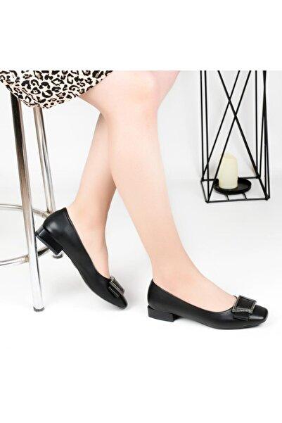 Pandora Kadın Ortapedik Siyah Günlük Babet Ayakkabı