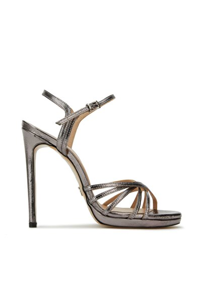 Dıvarese Kadın Silver Deri Topuklu Ayakkabı