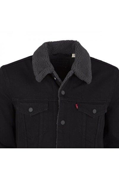 Levi's Erkek Kürklü Siyah Jean Ceket 16365-0054