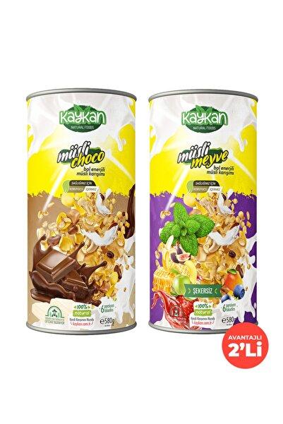 Kaykan Natural Foods Kaykan Müsli Choco + Müsli Meyve Granola 580gr 2'li Paket