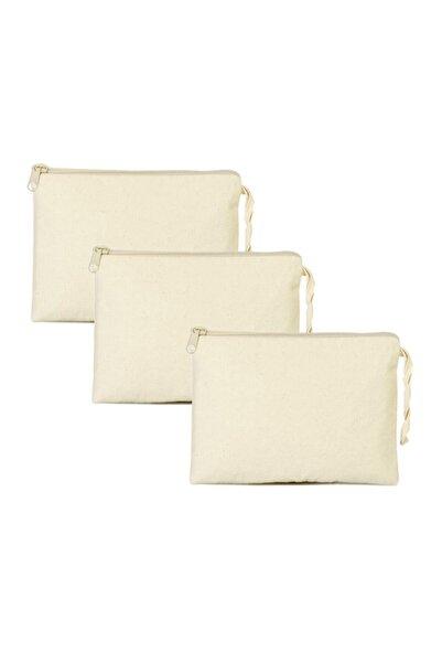 serkan çanta Bez Çanta 3 Adet Clutch