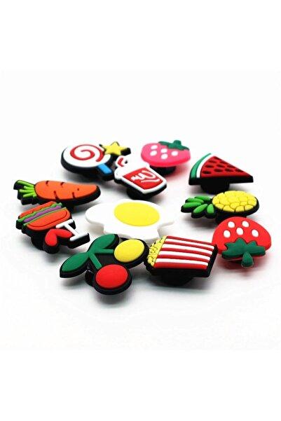 Schulzz 11 Adet Crocs Renkli Terlik Süsleri Jibbitz Candy Serisi Renkli Aksesuar