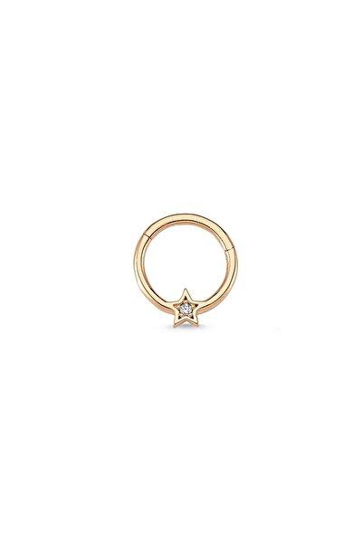 Altın Sepeti Rose Altın Halka Yıldız Tragus Piercing