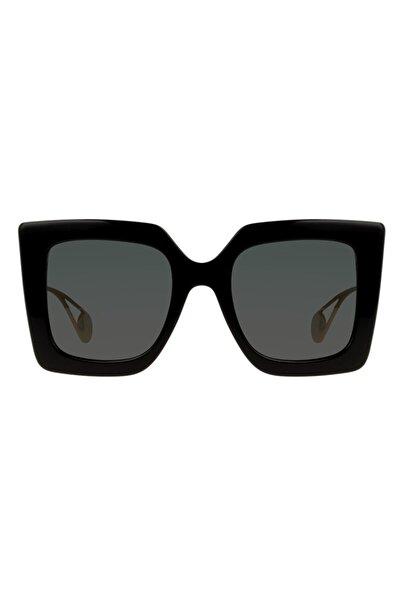 Gucci Kadın Köşeli Siyah Güneş Gözlüğü Gg 0434s 001 61