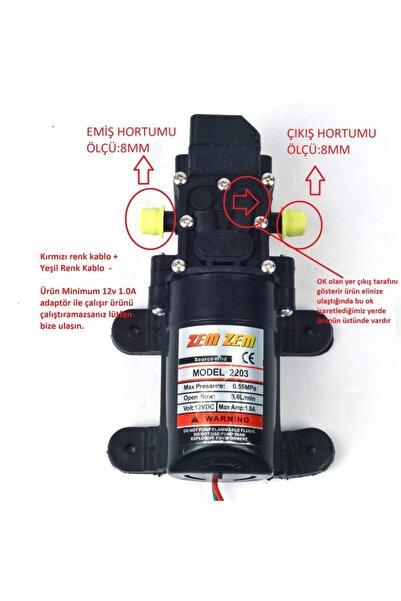 ZEMZEM Akülü Su Aktarma Ve Ilaçlama Motoru Pompası 12 Volt