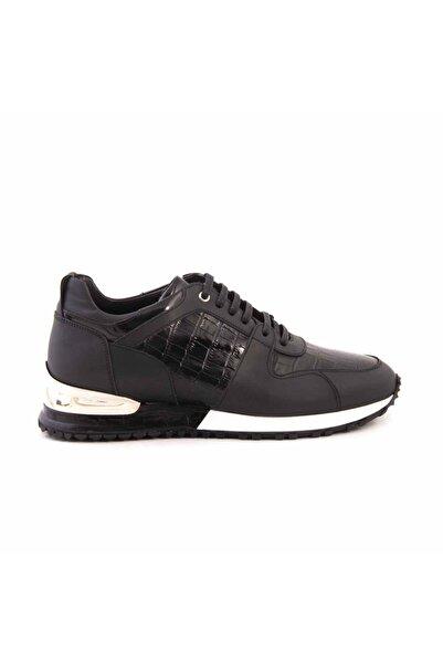 MOCASSINI Erkek Siyah Deri Bağcıklı Spor & Sneaker D540k