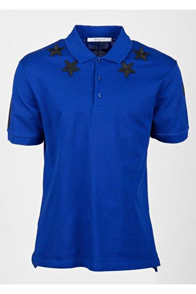 Givenchy Erkek Mavi T-shirt