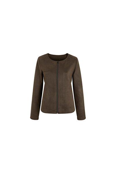 Tchibo Kadın Haki Fermuarlı Ceket