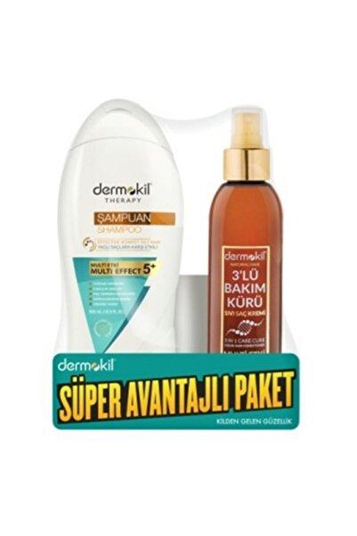 Dermokil Dernokil Şampuan Yağlı Saçlar 400 ml ve Bakım Kürü 3'lü