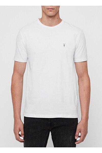 AllSaints Erkek Beyaz Bisiklet Basic Tonic Crew Tshirt