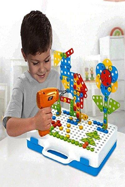 Gazi Kırtasiye Matkaplı Vidalama Ve 3d Yaratıcı Mozaik Puzzle 198 Parça Creative Portable Box Yapı Lego Oyunu