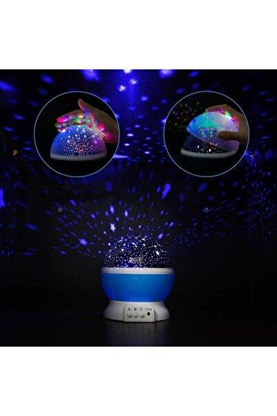 TechnoSmart Dönen Renkli Star Master Yıldızlı Gökyüzü Projeksiyon Gece Lambası Masa Lambası