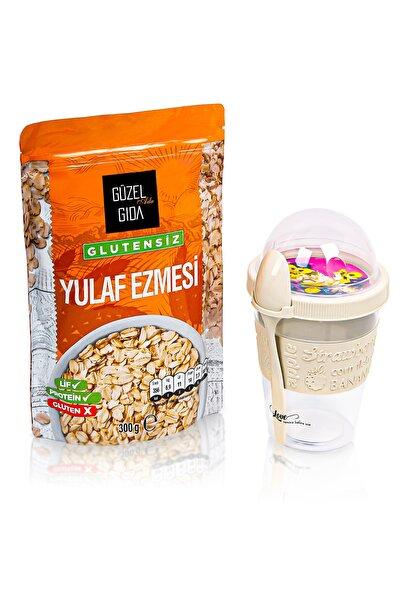Güzel Gıda Glutensiz Yerli Yulaf Ezmesi 300 gr Ve Yoğurt Kabı