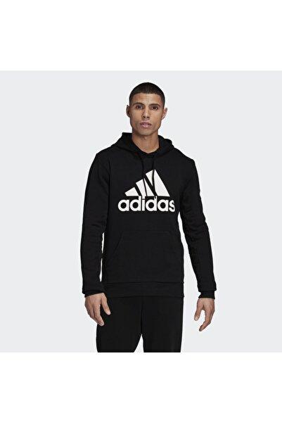 adidas Badge Of Sport French Terry Erkek Siyah Sweatshirt (GC7343)