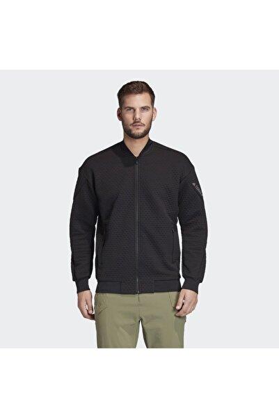 adidas Erkek Siyah Hike Fleece J Ceket