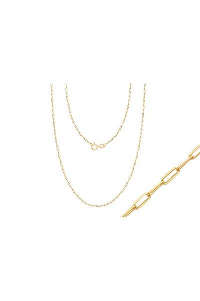 Diamond Line-Gülaylar Sarı Altın 14 Ayar Trend Zincir