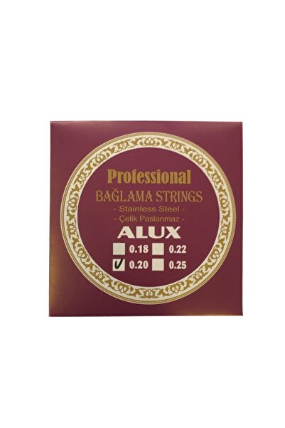 Alux 0,20 Uzun Sap Profosyonel Çelik Bağlama Saz Teli