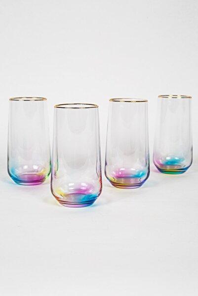 Rakle Rainbow 4'lü Meşrubat Bardağı Seti 470 Cc