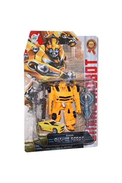 PopŞeker Transformers Bumblebee Tarzı Dönüşebilen Robot 12cm.