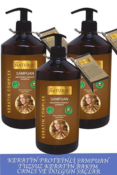 Ilgaz Naturix Organix Işlem Görmüş Saçlar Için Keratin Bakım Şampuanı 600 Ml 3'lü Saç Uzatmaya Yardımcı Şampuan