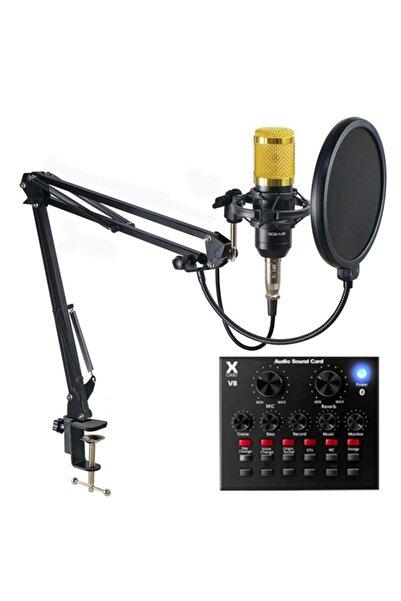 OXID V8 Ses Kartı Ve Bm800 Mikrofon Seti