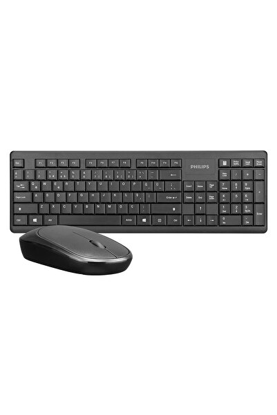 Philips Spt6314s Siyah Kablosuz Klavye Mouse Set Türkçe Q 1200dpi