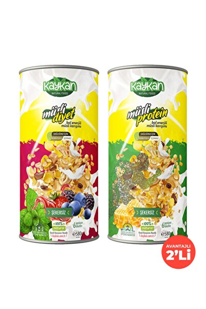 Kaykan Natural Foods Kaykan Müsli Diyet + Müsli Protein Granola 580gr 2'li Paket