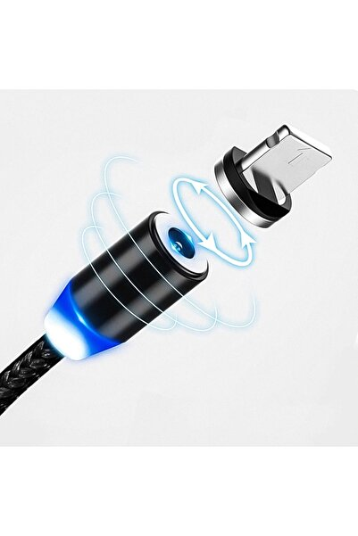 Kafe ss Sweet Smile Iphone 11 Cep Telefonu Uyumlu 3in1 Mıknatıslı Hızlı Şarj Kablosu Şarz Aleti Kablosu
