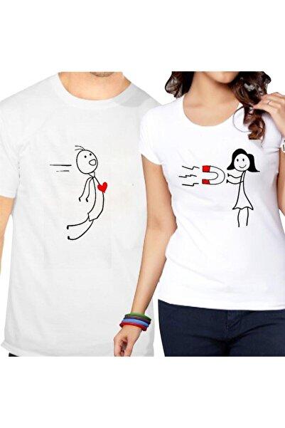 gold fotoğrafçılık Sevgili Tişörtleri Çift Kombini Çekim Gücü Ikili Beyaz T-shirt