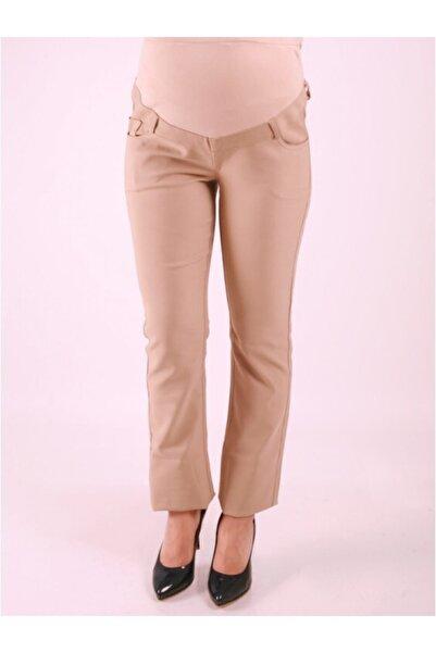 Işşıl Kadın Bej Boru Paça Pantolon