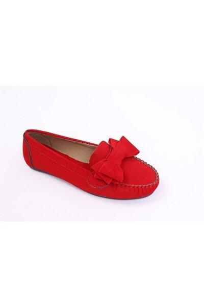 lexıa Kadın Kırmızı Süet Babet