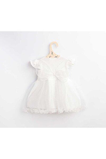 Le Mabelle Beyaz Kelebek Kanatlı Kız Bebek Elbise - Butterfly