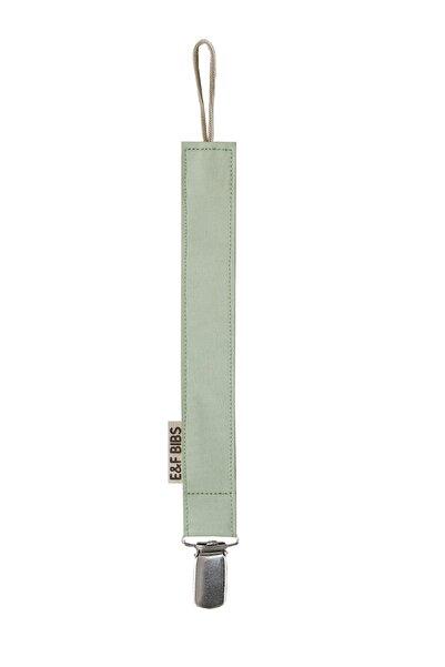 e&f Store Mint Yeşili Emzik Askısı - Sertifikalı Kumaş Pamuk Bağcıklı Emzik Zinciri