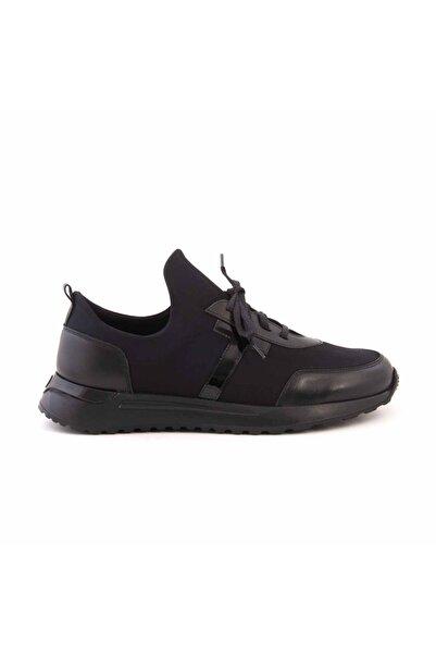 MOCASSINI Erkek Siyah Deri Bağcıklı Spor & Sneaker D2156t