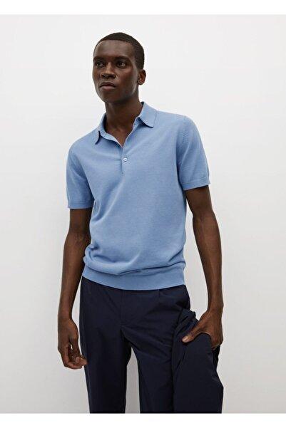 MANGO Man Erkek Triko Koton Polo Tişört