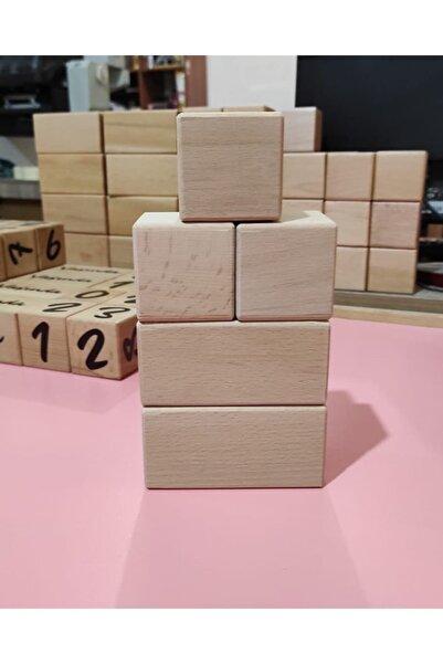 Babyroom Ahşap Küp Blokları Kayın Ağacı Ham Zımparalı 5' Li Set